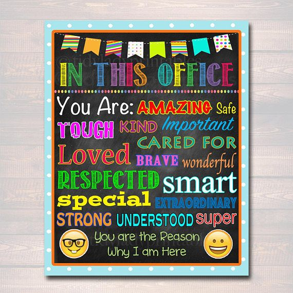School Counselor Digital Poster, Child Therapist Decor, Counselor - fresh 7 counseling confidentiality statement