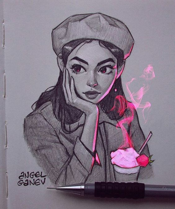 Photo of Girl Sketch