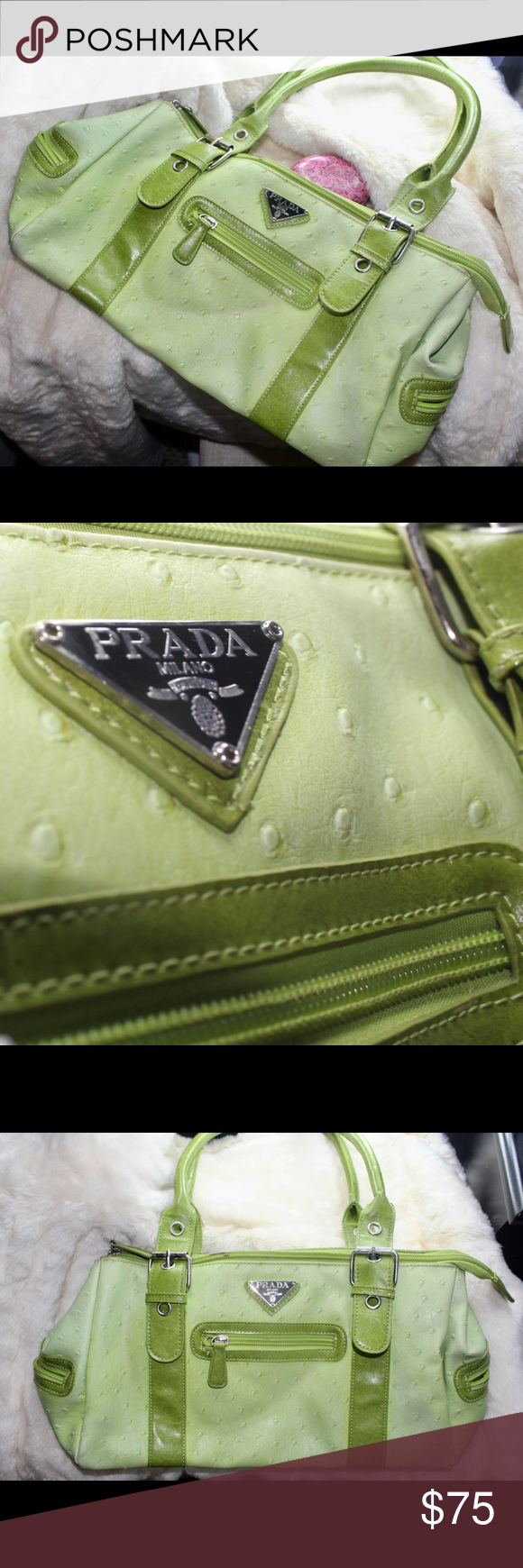 1ecdd973800c Prada Purse Vintage lime green Prada purse Prada Bags | My Posh ...