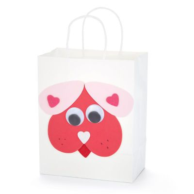 Valentine's Day Foam Heart Puppy Gift Bag