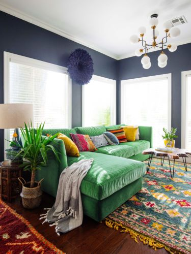 6 Ways To Incorporate Pantones 2017 Color Into Your Home Green Couch DecorGreen