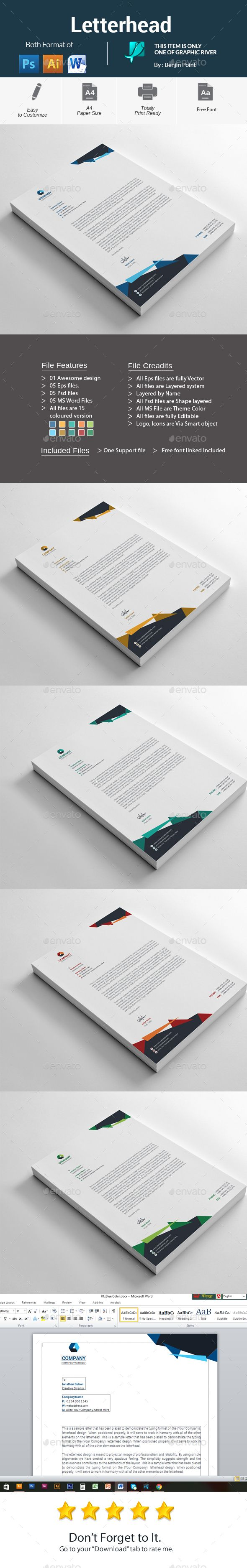Letterhead template psd vector eps ai illustrator ms word letterhead template psd vector eps ai illustrator ms word spiritdancerdesigns