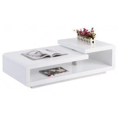 Table De Salon Contemporaine Blanche Laquee Table De Salon Table Basse Design Table Basse