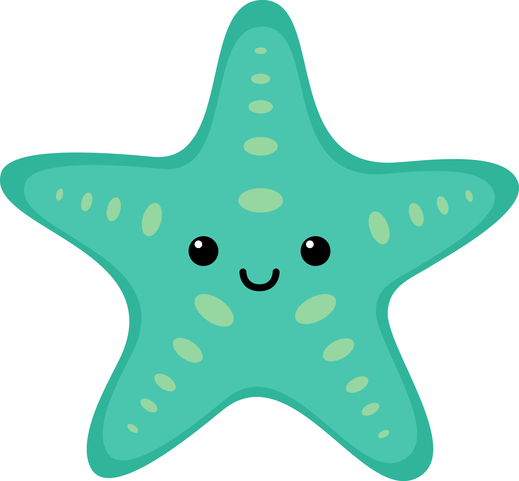 Sea Star Graphic Free Stock Turquoise Get Free High Quality Sea Star Graphic Free Stock Turquoise On Clipart In 2020 Cartoon Sea Animals Baby Shark Animal Clipart