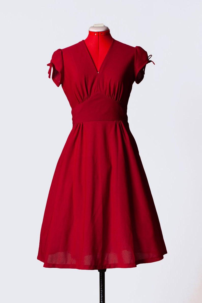 Vintage 60s 70s Romantic Burgundy Red Dress Medium Etsy Silk Cocktail Dress Red Dress Dresses [ 1191 x 794 Pixel ]
