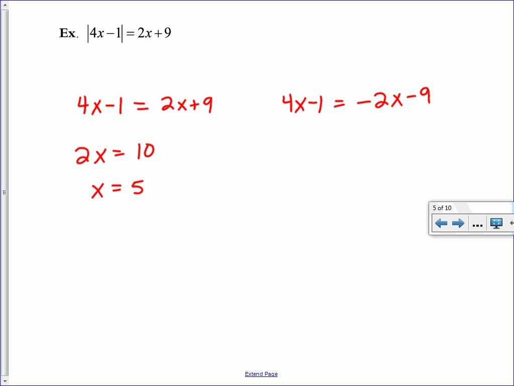 Solving Absolute Value Equations and Inequalities – Solving Absolute Value Equations and Inequalities Worksheet