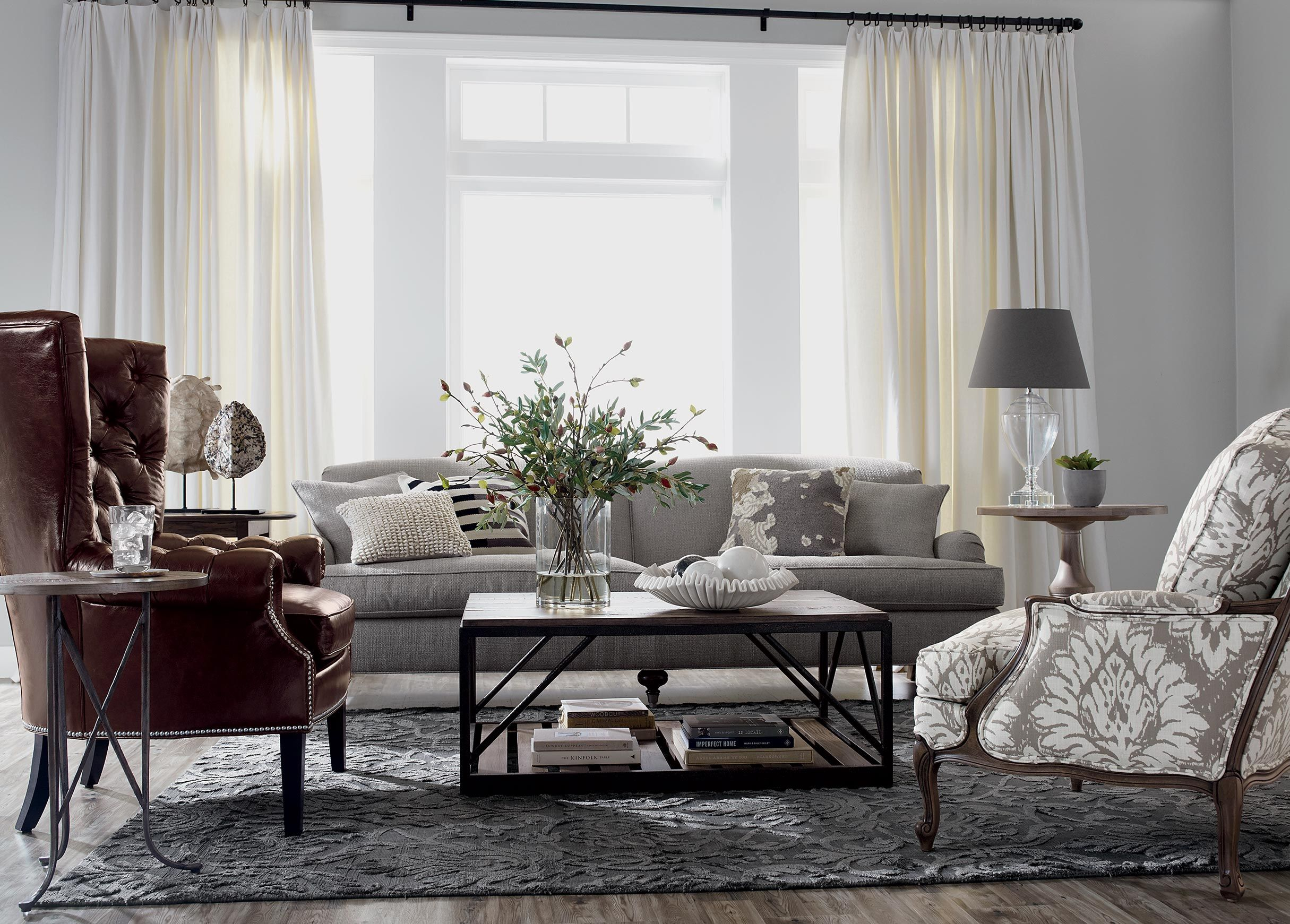 Seats of Honor Living Room | Ethan Allen