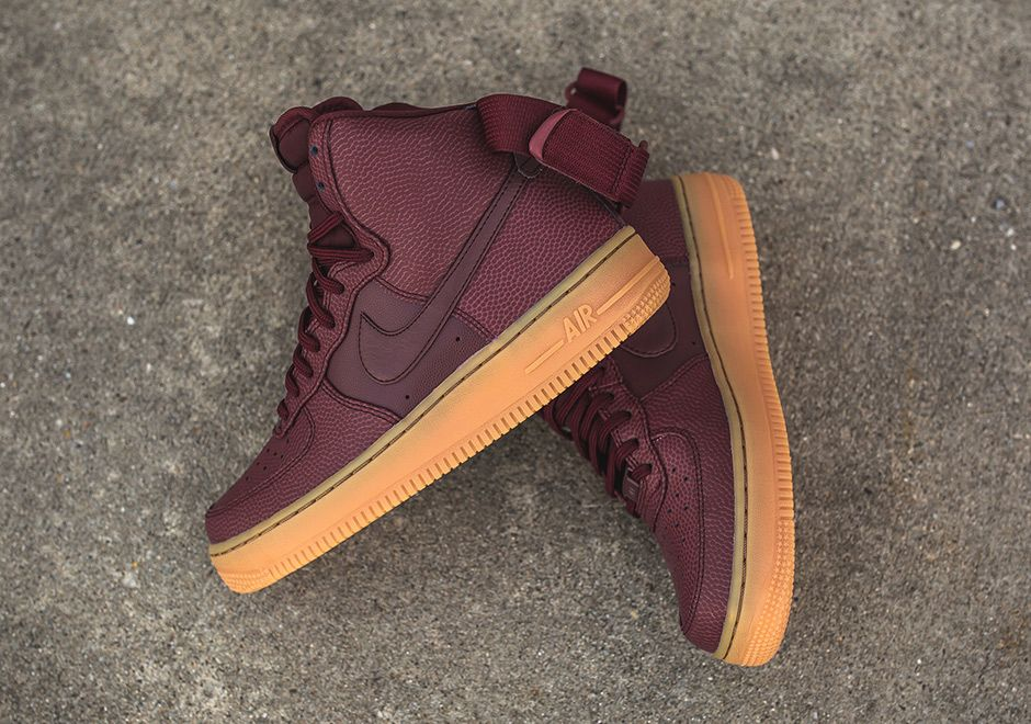 de7034e554691 Nike WMNS Air Force 1 High SE Night Maroon