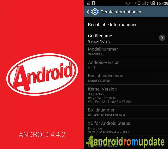 N9005XXUENB4 Galaxy Note 3 N9005 KItKat update | Places to