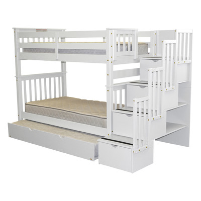 Harriet Bee Tena Tall Twin Over Twin Bed with Trundle in 2018 ...