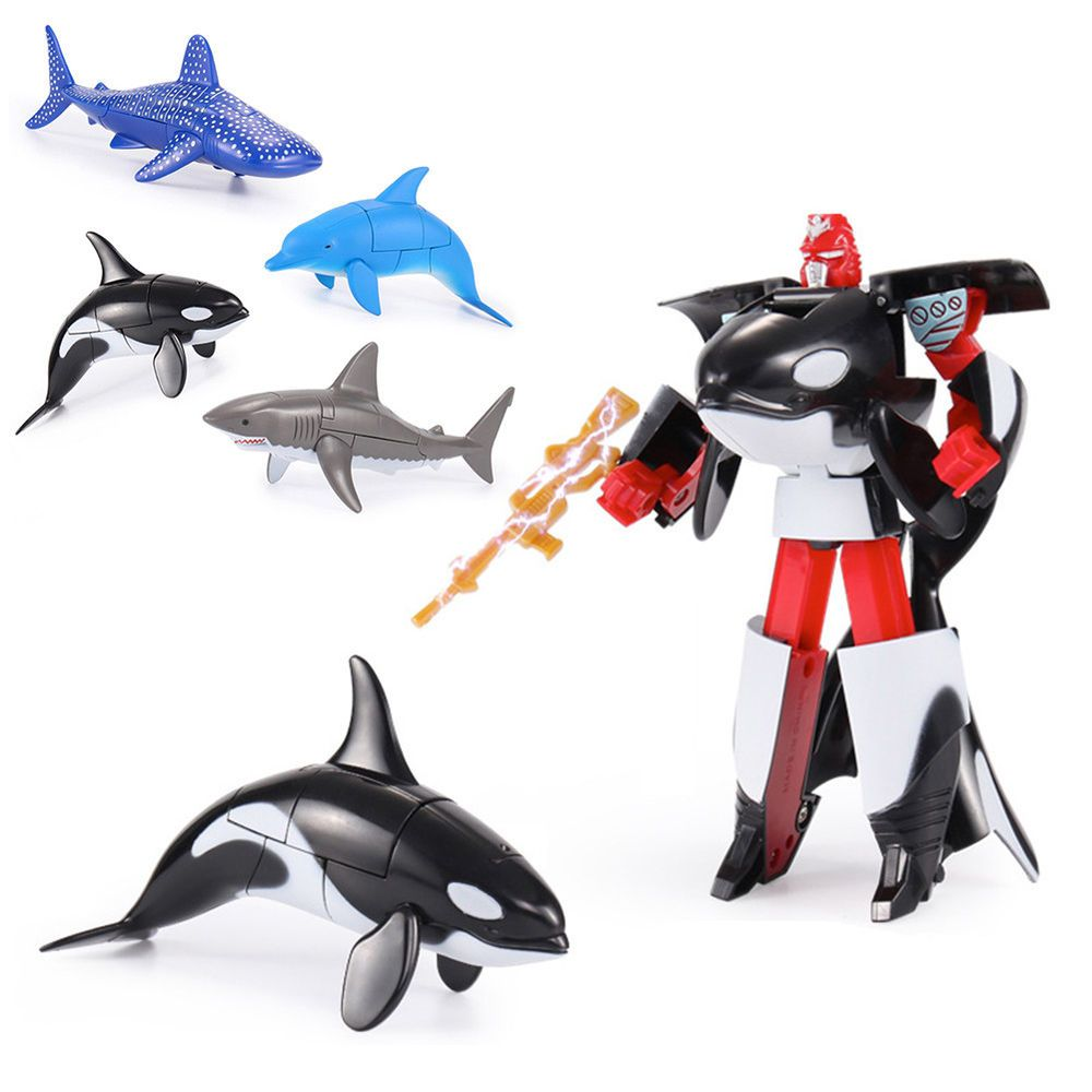 Transformation Robot Action Figure Ocean Park Dolphin Educational Kids Toy New