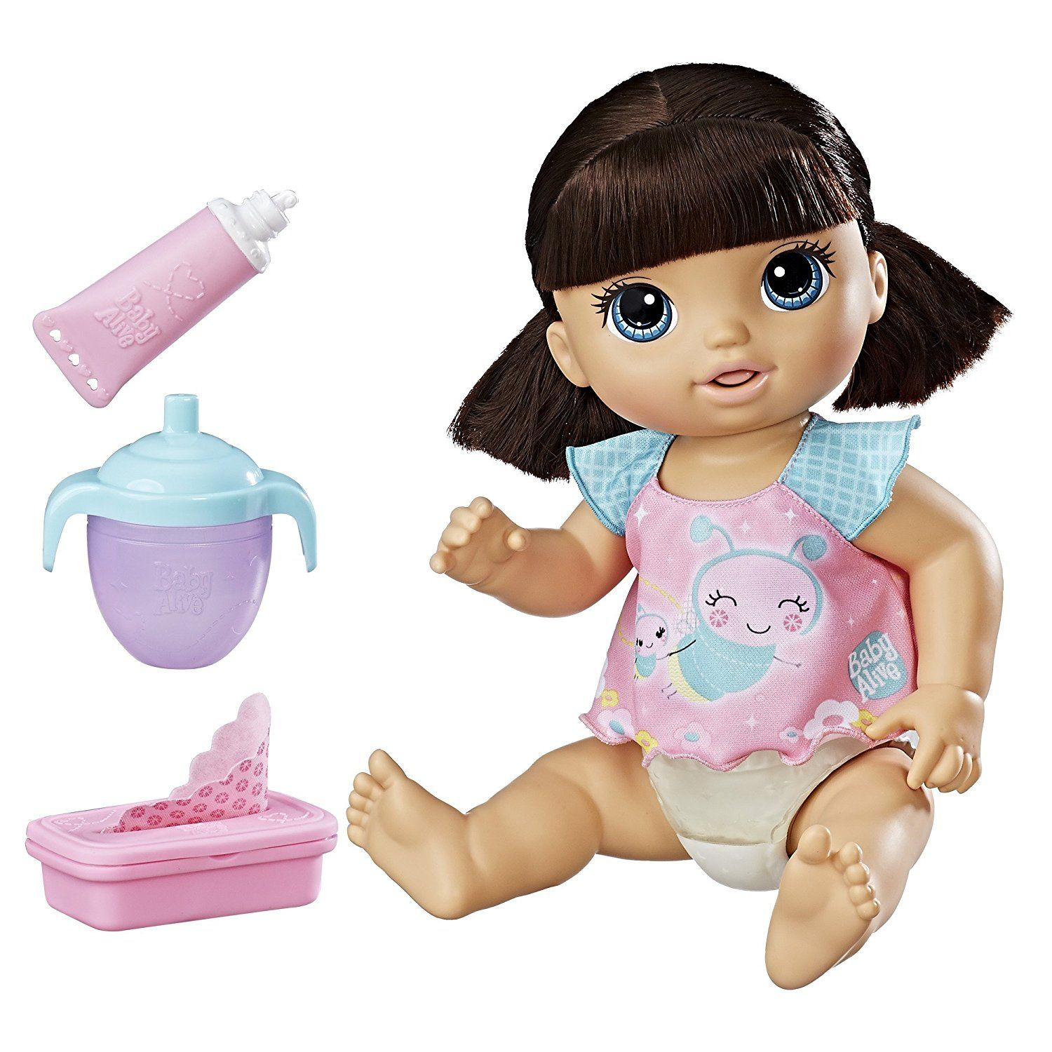 Amazon Com Baby Alive Twinkles 39 N Tinkles Brunette Toys Amp Games Baby Alive Baby Doll Accessories Baby Dolls For Kids