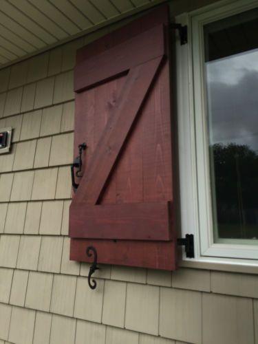 Details About Custom Handmade Exterior Cedar Board And Batten Wood Shutters More Cedar Boards