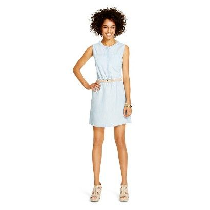 Women's Denim Shirt Dress Isley Wash - Merona™