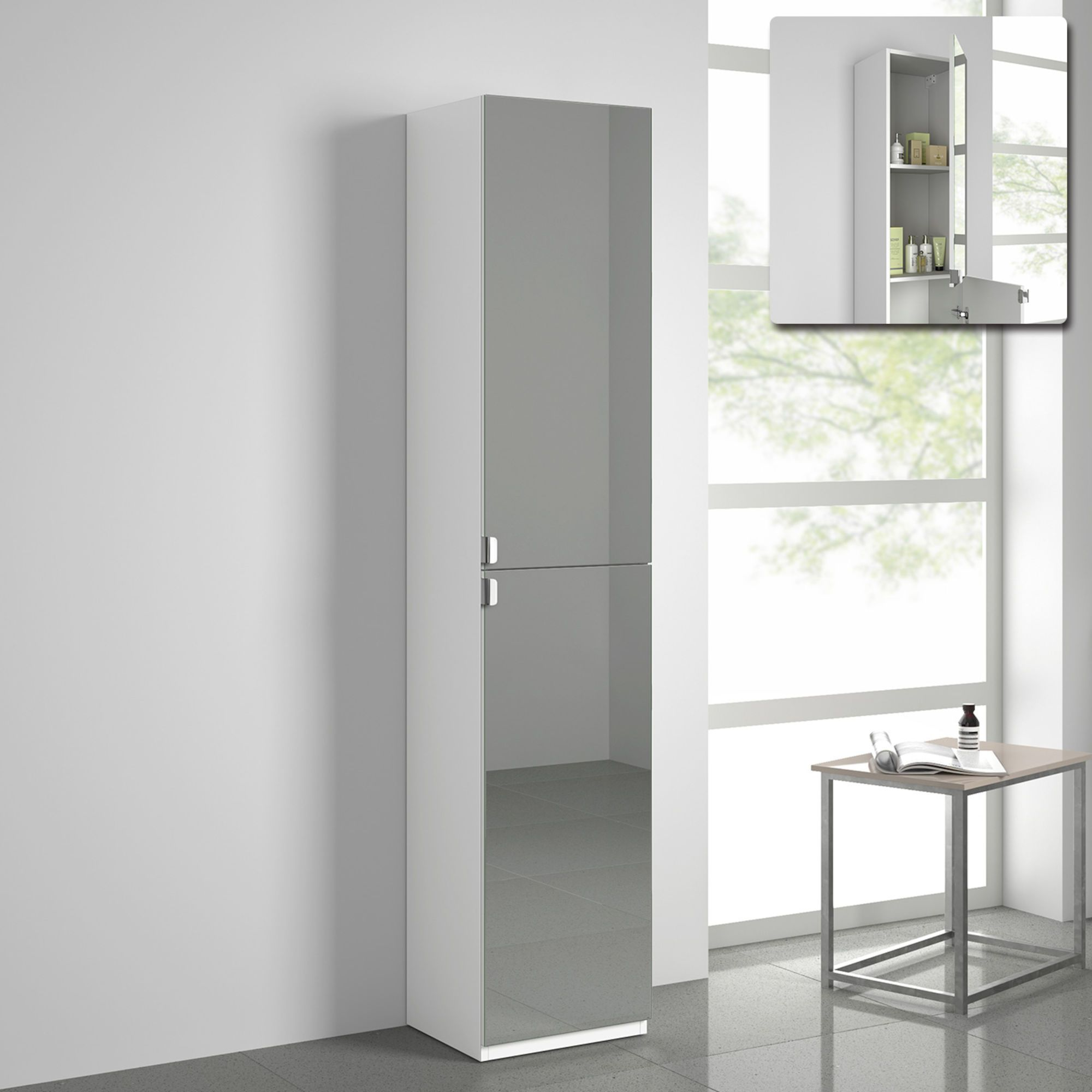 Tall Mirror Cabinet Ireland White Tall Bathroom Unit Ie Soak Com Tall Cabinet Storage Storage Furniture Tall Bathroom Storage Cabinet