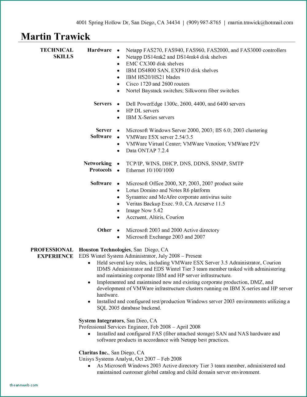Bank Teller Resume Samples Beautiful System Administrator Resume Network Sample Co Windows