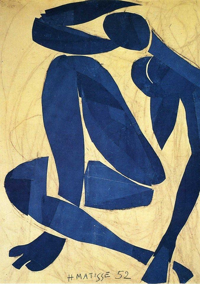 Blue nude IV - Henri Matisse 1952 —