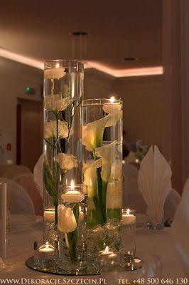 Blog Slubny Organizacja I Dekoracja Wesel Romantyczna Dekoracja Z Plywajacymi Swieczkami W Vivat Mierzyn Wedding Table Table Decorations Decor