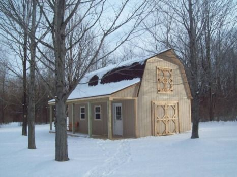 Gambrel Barns The Shed Guy Gambrel Barn Shed Homes Farmhouse Sheds