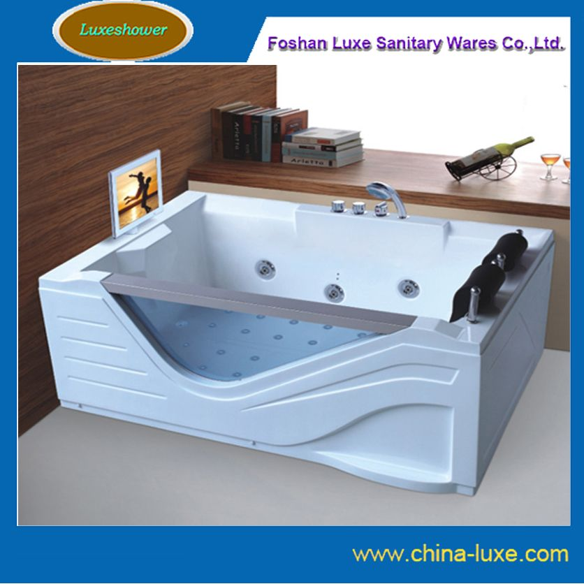 2 person jacuzzi whirlpool jetted bathtub with tv dvd | Arch ...