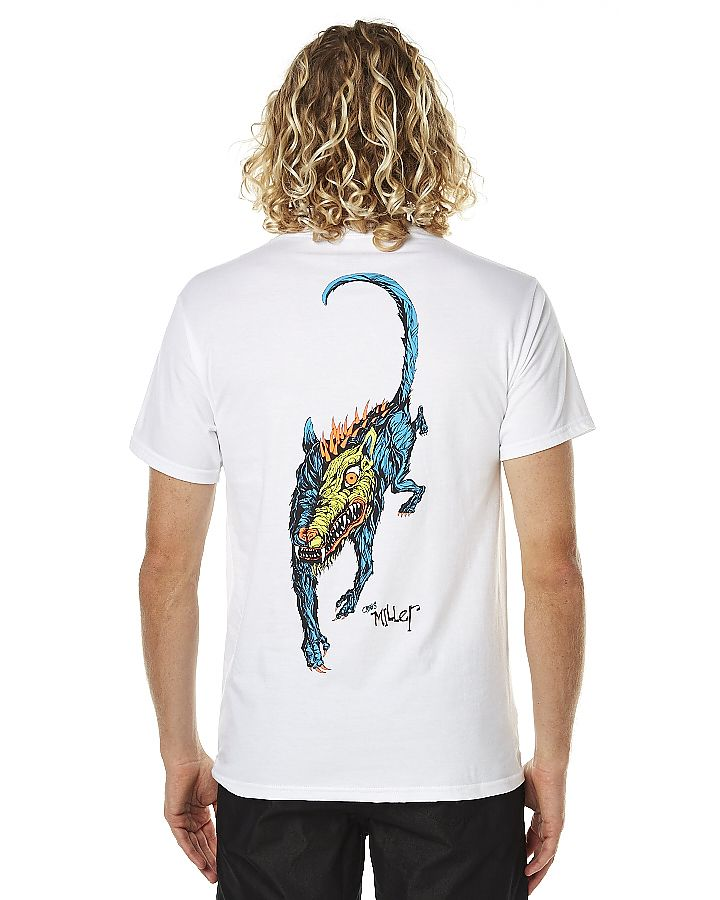 WELCOME MILLER BEAST MENS TEE - WHITE