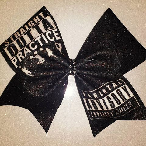 Cheer Bow-STRAIGHT OUTTA PRACTICE by BOWcasions on Etsy