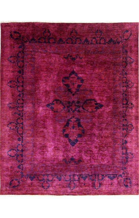 Rugs Usa Overdye Kamilah Fuschia Pink Rug 1903 8 X 9