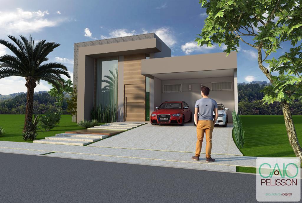 Casas de condominio terreas pesquisa google fachada for Design moderno casa contemporanea con planimetria