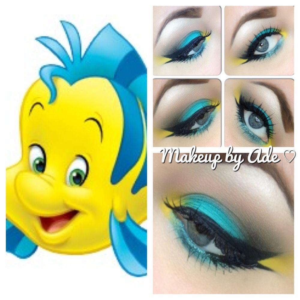 Ariel's amigo :) Disney's Flounder Inspired Makeup. www.makeupbyade.com