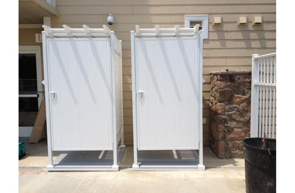 The Todd Pod Outdoor Shower Enclosure Backyard Living