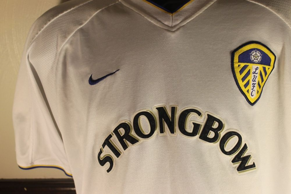 new styles 29ac3 8ab72 Leeds United Jersey Strongbow Nike Drifit Soccer Football ...