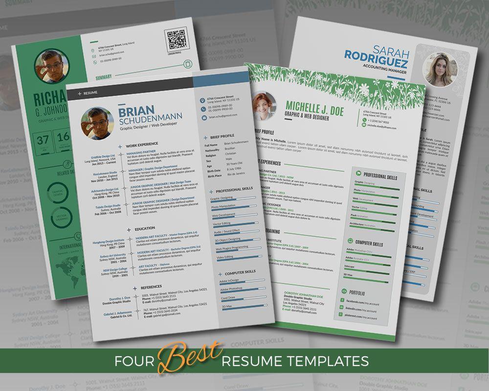 Excited To Share The Latest Addition To My Etsy Shop Professional Resume Template Bundle 4 Word Professioneller Lebenslauf Infografik Lebenslauf Lebenslauf