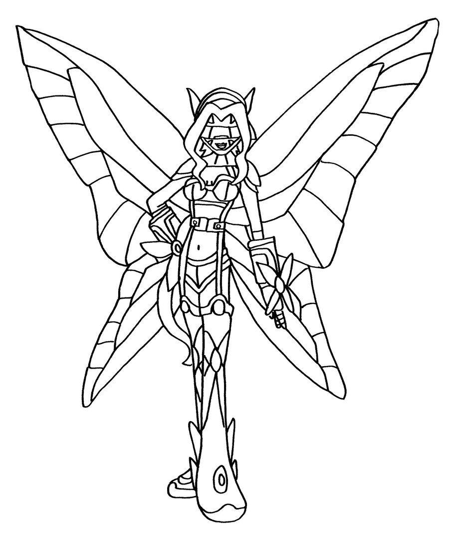 Bw Kazemon By Elfkena On Deviantart Sketches Art Digimon