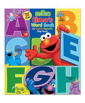 Look at this #zulilyfind! Elmo's Word English/Spanish Flap Board Book by Sesame Street #zulilyfinds