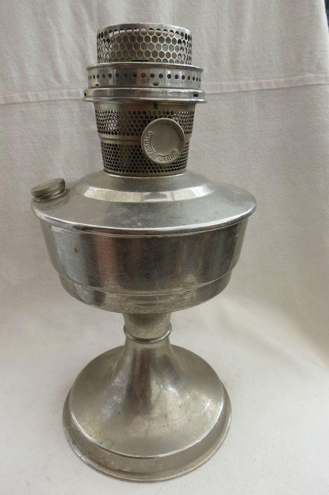 VINTAGE SUPER ALADDIN OIL LAMP BASE AND BURNER