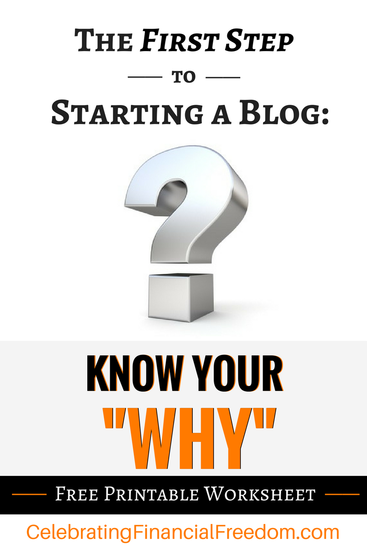The First Step To Starting A Blog Know Your Why Money Management