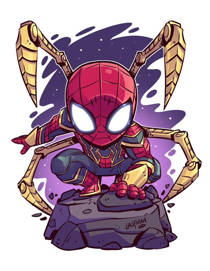 66052538 Chibi Iron Spider 8.5x11