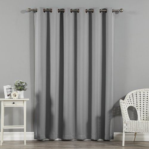 Scarsdale Extra Solid Blackout Thermal Grommet Single Curtain