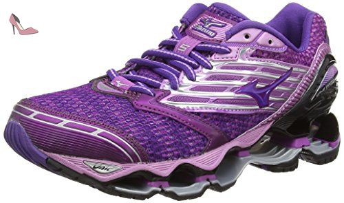 Mizuno Wave Prophecy 5, Chaussures de Running femme, Noir (Hyacinth Violet /Royal