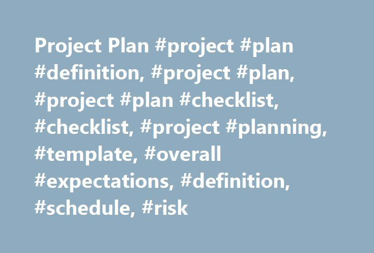 Project Plan #project #plan #definition, #project #plan, #project - project checklist