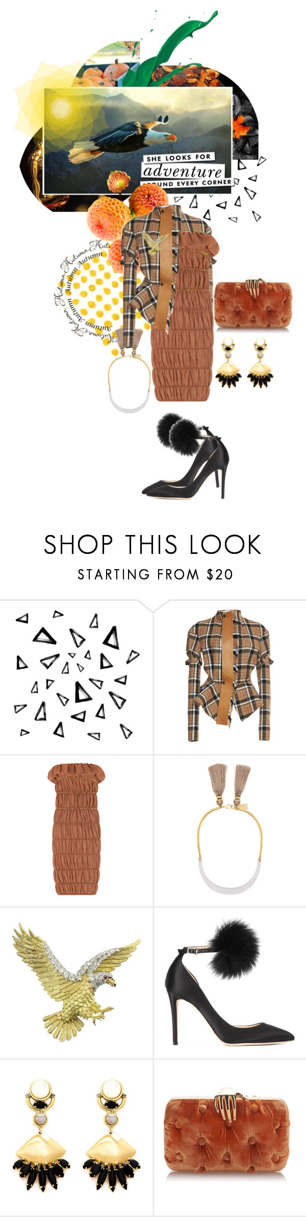 """2139.She looks for adventure around every corner"" by silvinadupuywriter ❤ liked on Polyvore featuring Nika, Kate Spade, Loewe, Lizzie Fortunato, Herbert Rosenthal, Jimmy Choo and Lizzie Fortunato Jewels"