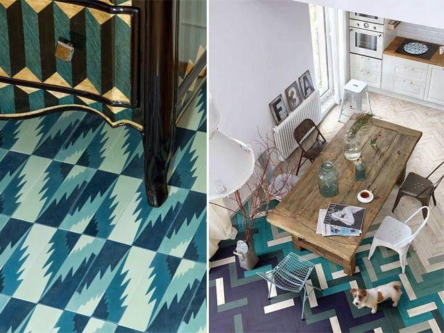 Tendance Carrelage Bleu Petrole Sol Qui Change De Couleur Progressivement Sol Bleu Deco Boheme Blog Deco
