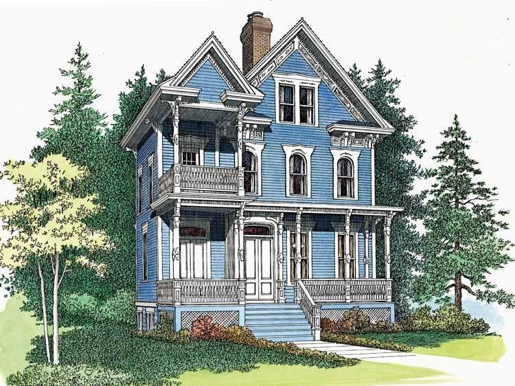 Eplans queen anne house plan delicate queen anne for Queen anne house plans historic
