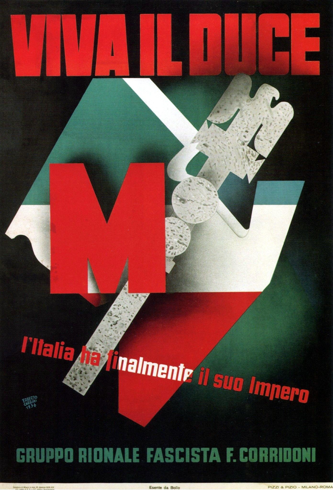 1936 Viva Il Duce by Erberto Carboni