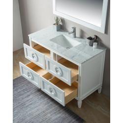 Photo of Landhausstil 2tlg Set Lavanda 120 weiss Holz lackiert Carrara Marmor montiert