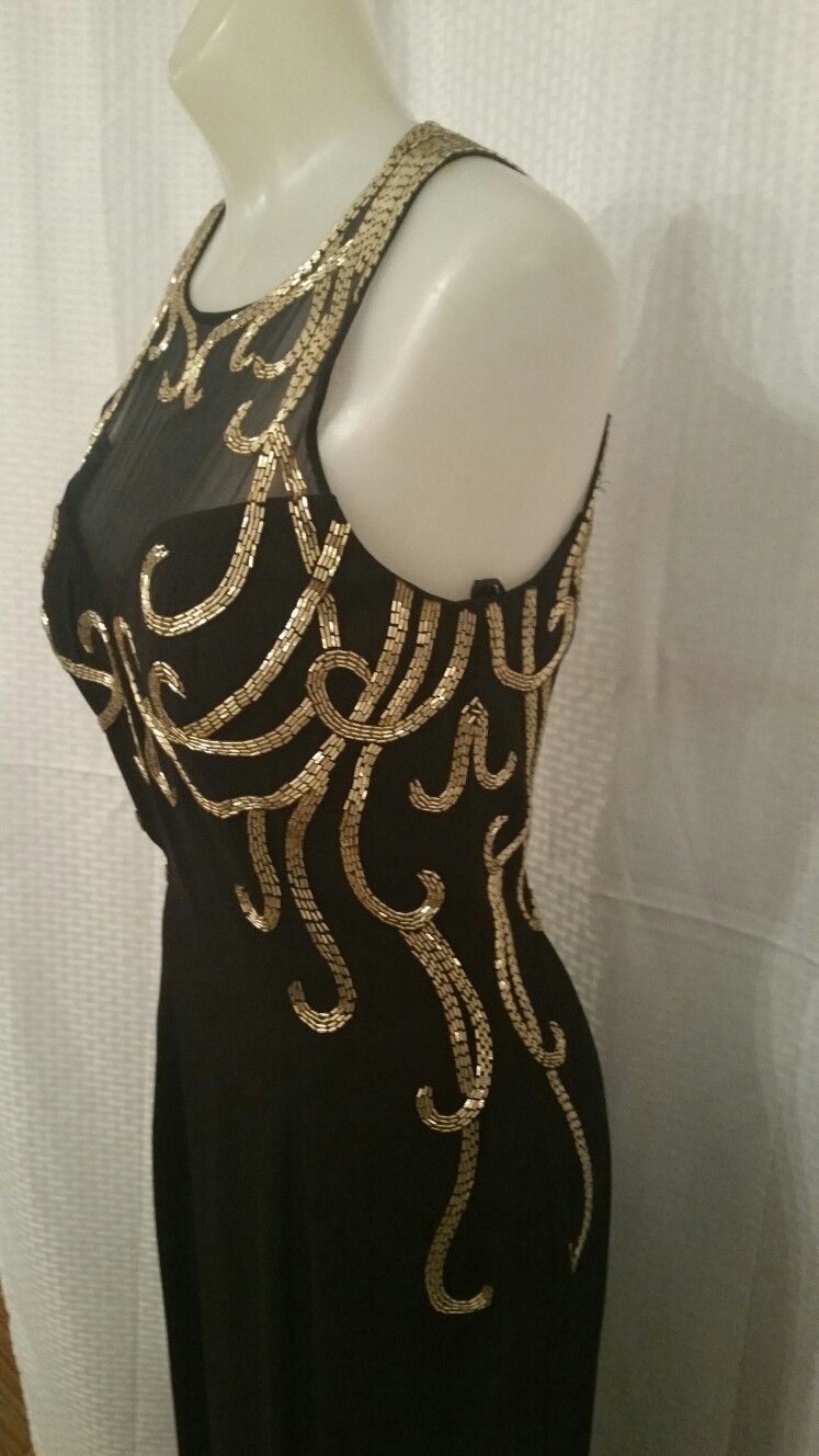 Black Gown with Design