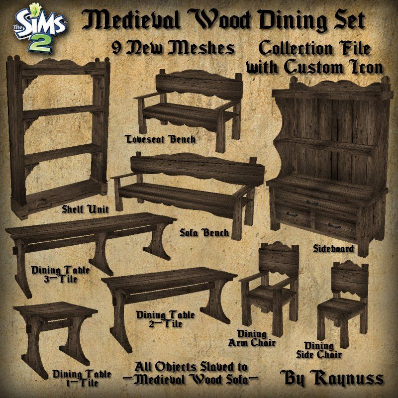 Imagine That The New And Improved Medieval Wood Dining