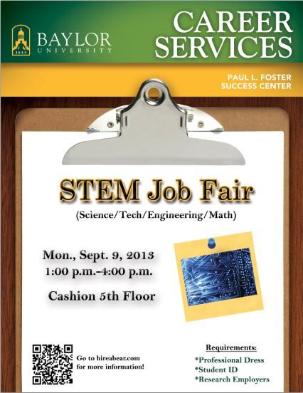 Baylor STEM (Science/Technology/Engineering/Mathematics) Job Fair is