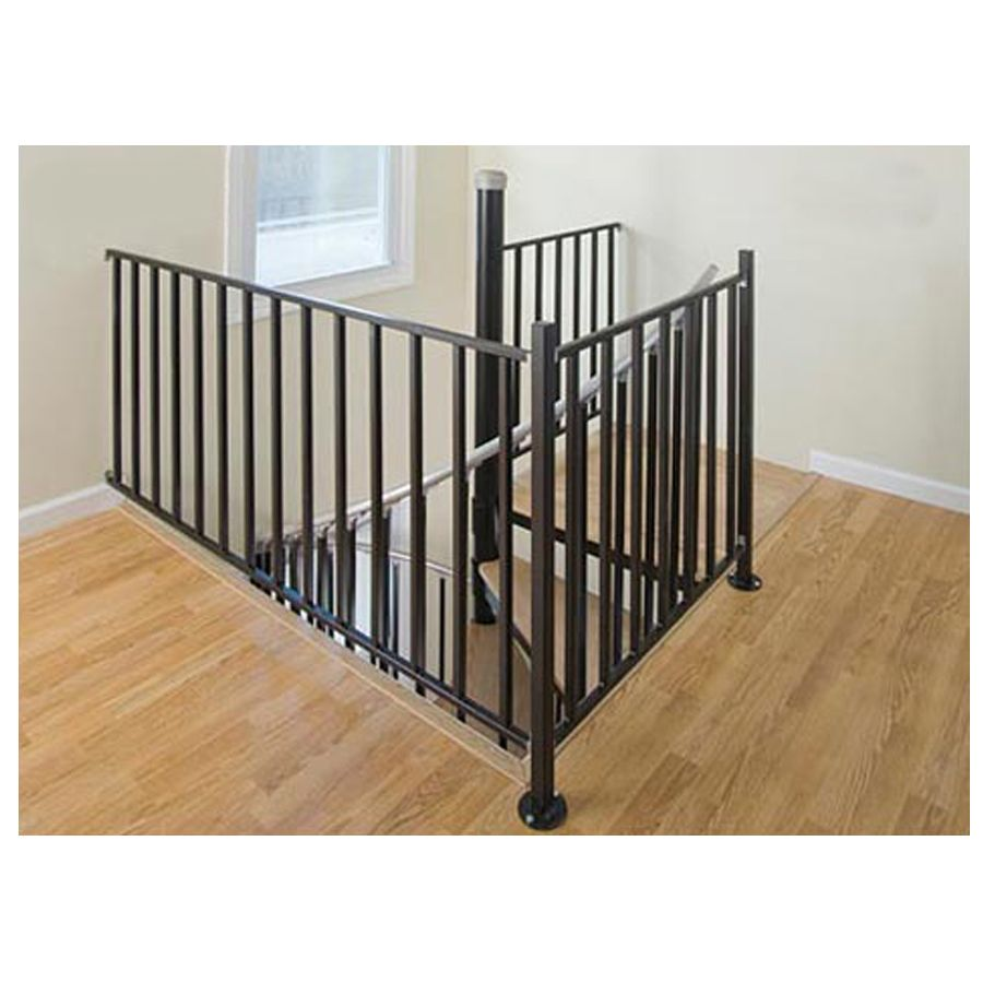 The Iron Shop Houston 3 Ft Black Painted Wrought Iron Stair Railing Kit  Hb30pp