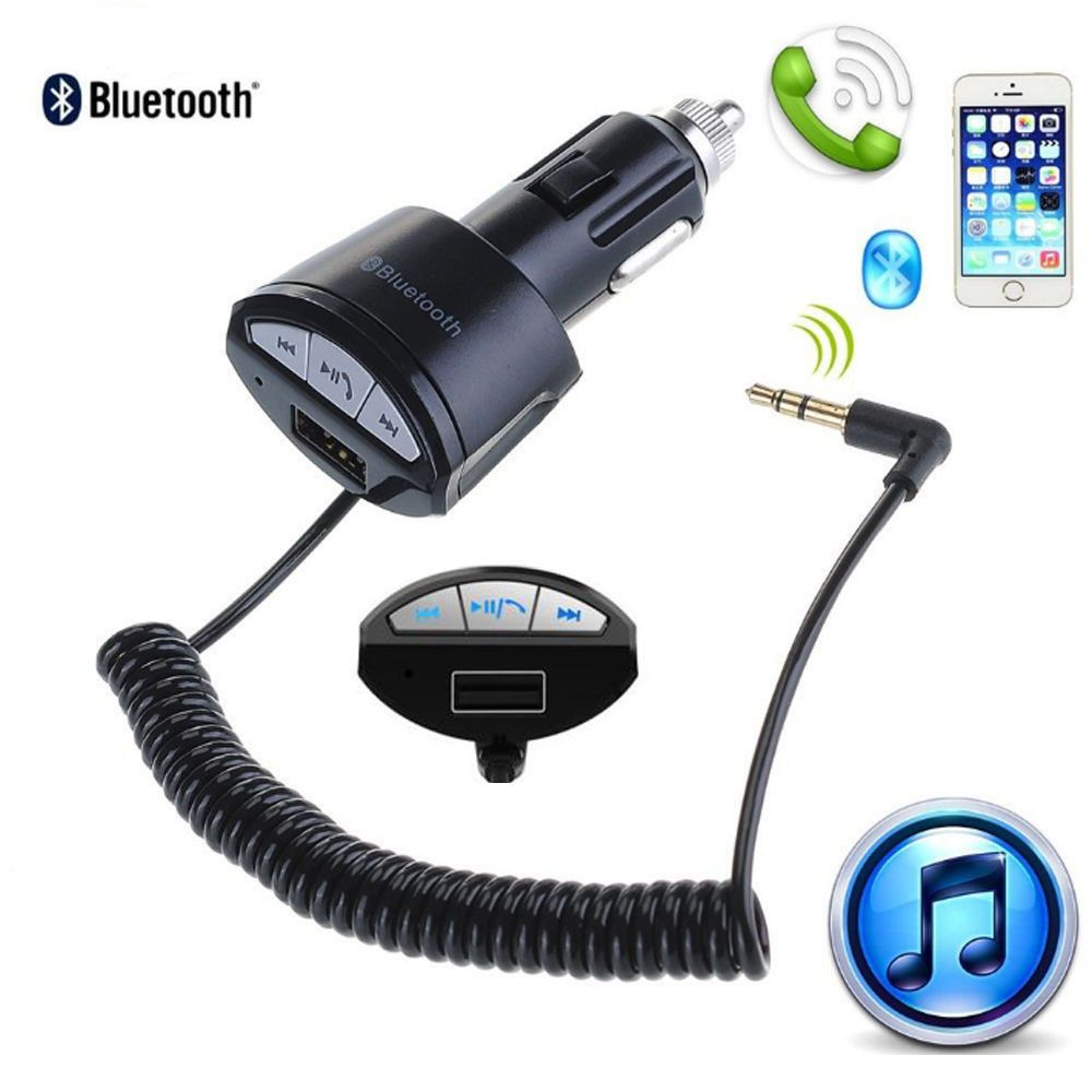 3 5mm Handsfree Bluetooth Aux Stereo Adapter Car Usb Charger Plastic Metal Car Usb Usb Chargers Car Bluetooth